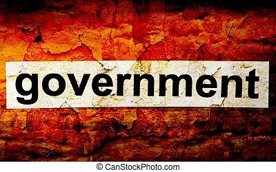 kormány, grunge, fogalom