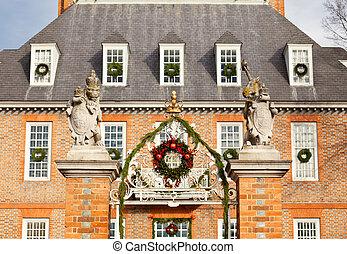 kormányzók, belépés, williamsburg, palota