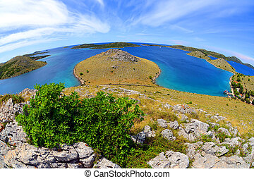 Kornati islands national park in the Adriatic sea. Croatia.