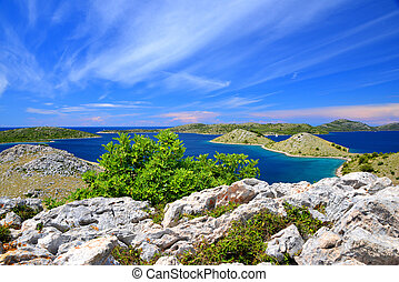 Kornati islands national park landscape in the Adriatic sea. Croatia.