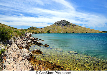 Kornati islands national park. Landscape in the Adriatic sea. Croatia.