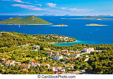 Kornati islands national park view from Drage village, Dalmatia, Croatia