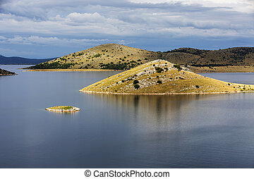 National Park Kornati islands and a marina for yachts and sailboats