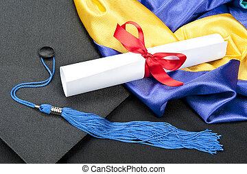 korona, dyplom, skala