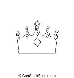 korona, odizolowany, szkic
