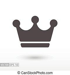 korona, -, płaski, ikona