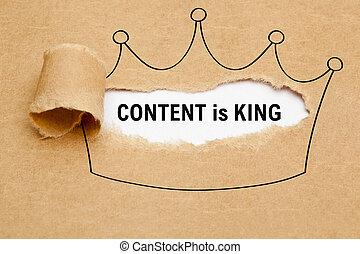 korona, papier, pojęcie, król, zadowolenie