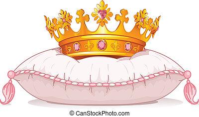 korona, poduszka
