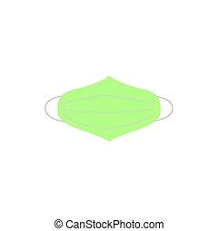 Korona virus face mask green