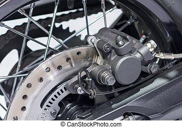 korong, fékez, motorkerékpár, rendszer