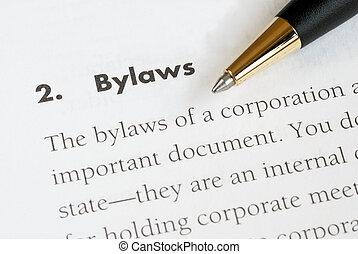 korporacja, bylaws