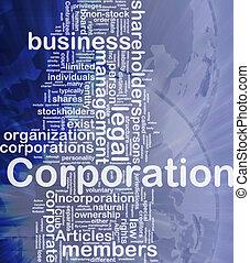 korporacja, pojęcie, tło