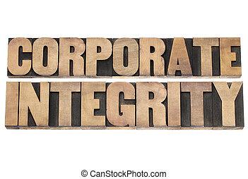 korporativ, art, holz, rechtschaffenheit
