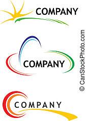 korporativ, logo, schablonen