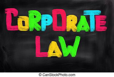 korporativ, lov, begreb