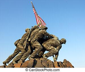 korpsen mariniers, het gedenkteken van de oorlog