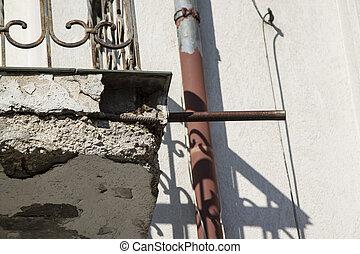 korrosion, concrete., verstärkt
