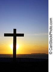 kors, i, kristus, .