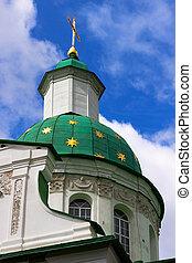 kors, på, kupol