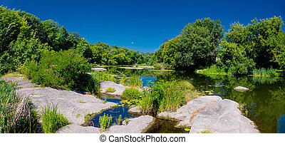 Korsun-Shevchenkovsky Reserve and Ros river. Cherkasy region, Ukraine