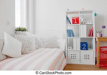 kortárs, lakberendezési tárgyak, közül, szoba