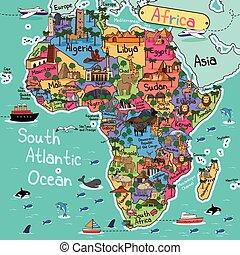 kort, afrika
