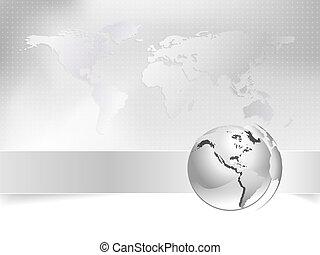 kort, begreb, firma, klode, -, verden