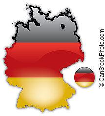 kort, i, tyskland