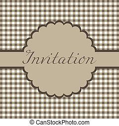 kort, inbjudan