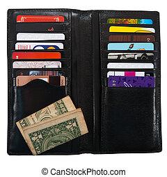 kort, plånbok, plastisk