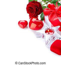 kort, valentindag, gåva, design.