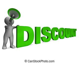 korting, aanbod, karakter, verkoop, korting, optredens