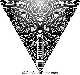 koru, stile, maori, tatuaggio