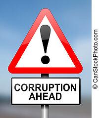korupcja, warning.