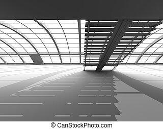 korytarz, architektura