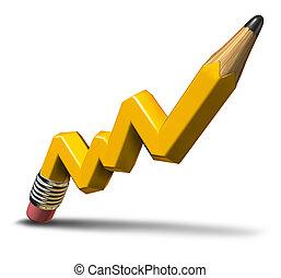 korzyść, planowanie, wzrost