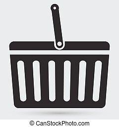 kosár, bevásárlás, ikon