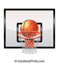kosárlabda létrafok, elszigetelt, white, vektor
