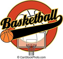 kosárlabda, noha, farok, transzparens