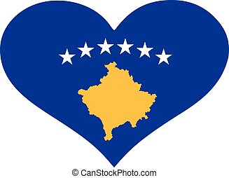 Kos flag heart