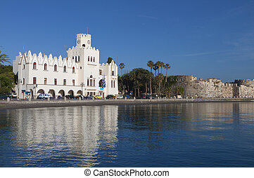 Kos island in Greece - The seafront of Kos island capital...