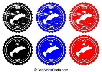 Kos - rubber stamp
