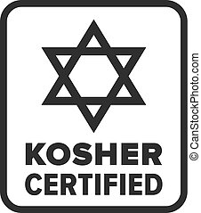 Kosher Certified symbol - Vector
