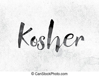 Kosher Concept Painted in Ink