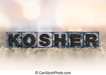 Kosher Concept Vintage Letterpress Type
