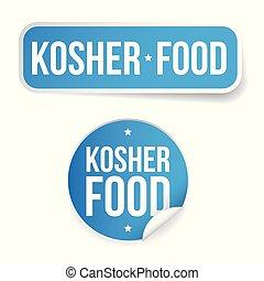 Kosher food label sticker