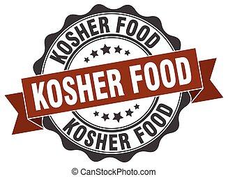 kosher food stamp. sign. seal