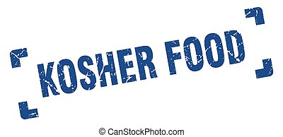 kosher food stamp. square grunge sign isolated on white ...