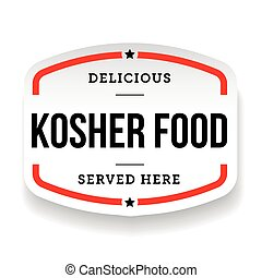 Kosher Food vintage label vector