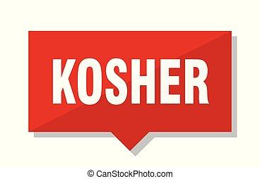 kosher red tag